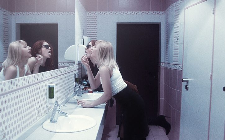 These Two Girls Made a Crazy Presentation in the Club's Toilet