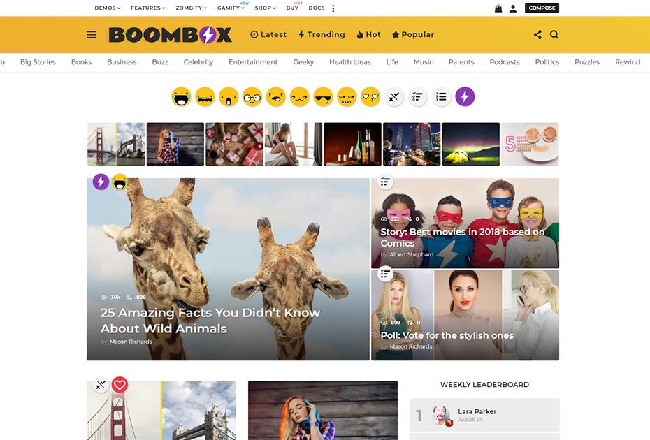 Boombox wordpress teması